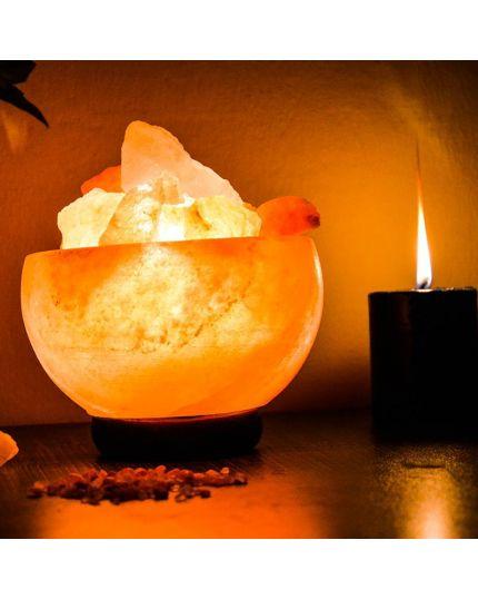مصباح صخر الهملايا العلاجي - شكل الطاسة